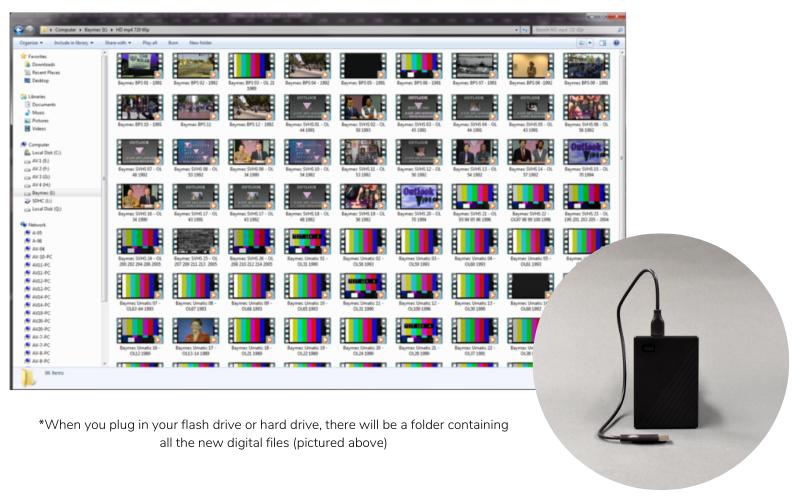 Video Transfer to mp4 USB Hard Drive