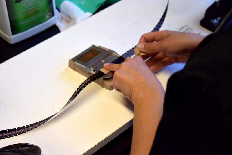 Repair splices for film transfer