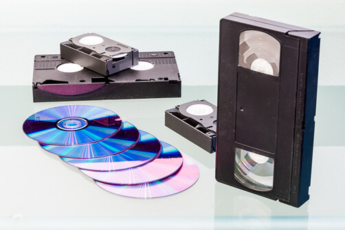vhs camcorder tapes dvds